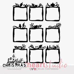 Heartfelt Christmas Small Frames Cut Files
