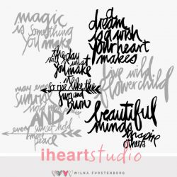 iHeartStudio_Boho Words_CutFiles_Preview 2